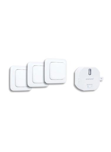 Smartwares AKıllı Ev İç Mekan Başlangıç Seti (1 Yerleştirmeli priz ve 3 Duvar Anahtarı) Renkli
